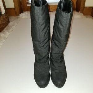 ETIENNE AIGNER BLACK BOOTS, RAIN WINTER FULLYLINED